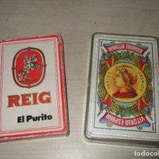 Barajas de cartas: LOTE BARAJA ESPAÑOLA FOURNIER REIG EL PURITO Y VITORIA. Lote 151881266