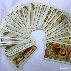 Barajas de cartas: ANTIGUA BARAJA HERACLIO FOURNIER VITORIA 1ª CLASE 1902 , COMPLETA 40 NAIPES ,ORIGINAL . Lote 151890006