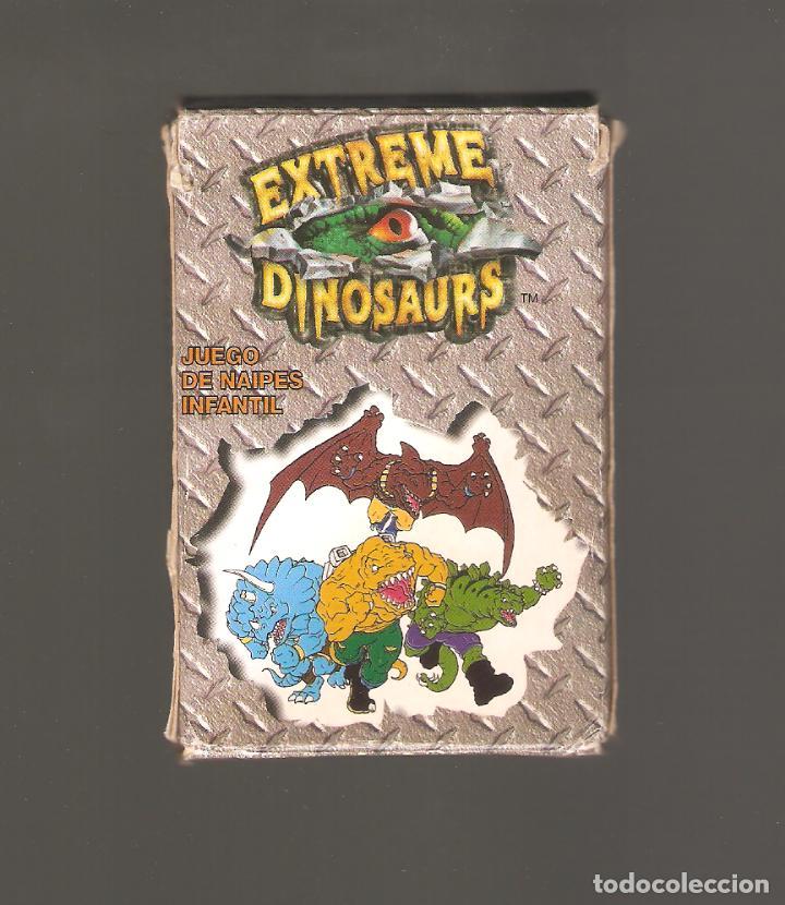 1 BARAJA DE NAIPE EXTREME DINOSAURIOS COMPLETA FOURNIER (Juguetes y Juegos - Cartas y Naipes - Barajas Infantiles)