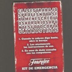 Barajas de cartas: 1 NAIPE FOURNIER ABRIR EN CASO DE EMERGENCIA. Lote 151945514