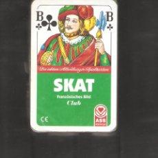 Barajas de cartas: 1 BARRAJA DE CARTAS JUEGO SKAT ALEMAN 32 CARTAS NUEVO SIN USAR. Lote 151957526