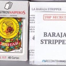 Barajas de cartas: BARAJA STRIPPER PARA MAGOS AZAHAR DE MAESTROS NAIPEROS Nº 117 NUEVA EN SU CAJA ORIGINAL (MAGIA). Lote 151960018