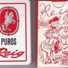 Barajas de cartas: BARAJA ESPAÑOLA CON ILUSTRACIONES DE MINGOTE PARA PUROS REIG DE FOURNIER, DEL AÑO 1984. Lote 151960994