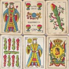 Barajas de cartas - BARAJA DE CARTAS CLASICA HERACLIO FOURNIER Nº 35 OPACA - COMPLETA (USADA Y MEZCLA DE CARTAS) - 151962666