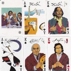 Barajas de cartas: BARAJA DE POKER ASES DE LA PINTURA - DALI-TAPIES-MIRO Y PICASSO (NUEVA SIN CAJA). Lote 151963118