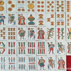 Barajas de cartas: JUEGO DE 48 CARTAS. BARAJA ESPAÑOLA. LA LEGITIMA LOBA. JUAN ROURA. 1939. . Lote 151963198
