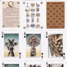 Barajas de cartas: BARAJA DE POKER DE GAUDI EN SU ESTUCHE ORIGINAL NUEVA SIN ESTRENAR (UNILAND). Lote 151965366