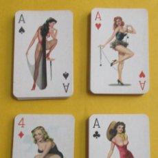 Barajas de cartas: JUEGO DE CARTAS DE POKER DE CHICAS PIN UP. 55 CARTAS.´CIRCA 1960.. Lote 152001046