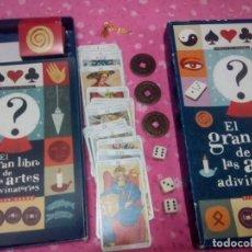 Barajas de cartas: TAROT EL GRAN LIBRO DE LAS ARTES ADIVINATORIAS CON PENDULO ICHING Y CARTAS. Lote 152224566