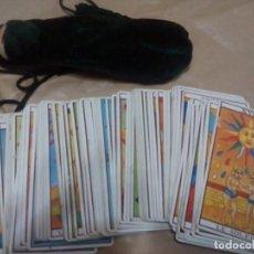 Barajas de cartas: TAROT MARSELLA CARTAS FOURNIER BOLSA DE REGALO COMPLETO 78 CARTAS. Lote 152225002