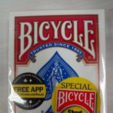 Barajas de cartas: BARAJA BICYCLE SHORT DECK ROJAS. Lote 152324205