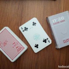 Baralhos de cartas: BARAJA FOURNIER VICTORIA Nº 26 PUBLICIDAD LAS LANZAS Y ZOSKA TIMBRE SOBRE NAIPES 3 PESETAS. Lote 152613102