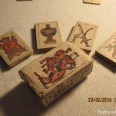 Barajas de cartas: BARAJAS DE CARTAS MINIATURA - NAIPES GAUCHITO 4,5 X 2,5 CM - COMPLETO 40 CARTAS -DORSO CON REFRAN. Lote 152963110