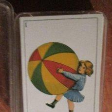 Barajas de cartas: BARAJA ESPAÑOLA ANTIGUA JUEGOS ANTIGUOS DE NIÑOS. Lote 26906661