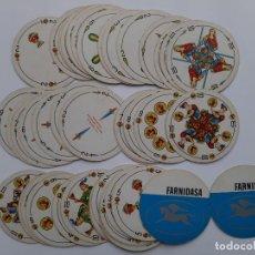 Barajas de cartas: BARAJA ESPAÑOLA, REDONDA, FOURNIER, CON PUBLICIDAD. Lote 153196438