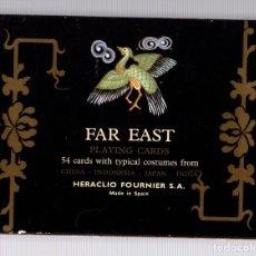 Barajas de cartas: BARAJA POKER FAR EAST. LEJANO ORIENTE. DOBLE BARAJA EN ESTUCHE. 54 CARTAS. COMPLETA. Lote 153214454