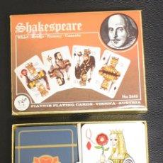 Jeux de cartes: BARAJA SHAKESPEARE. WHIST - BRIDGE - RUMMY - CANASTA. PIATNIK PLAYING CARDS. COMPLETA. DOBLE BARAJA. Lote 153215670