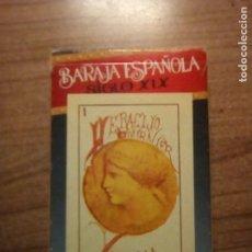 Barajas de cartas: BARAJA ESPAÑOLA SIGLO XIX REPRODUCCION. Lote 153241886