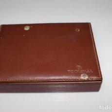 Barajas de cartas: CAJA DE MADERA CON 2 BARAJAS TABACALERA S.A. PUBLICIDAD TABACOS PARTAGAS. Lote 153679482
