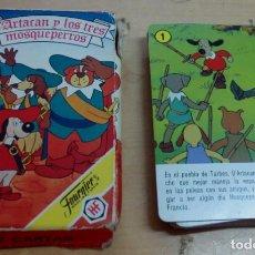 Barajas de cartas: BARAJA COMPLETA D'ARTACAN Y LOS TRES MOSQUEPERROS FOURNIER AÑO 1982. Lote 153968450