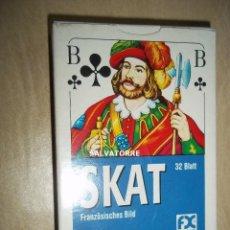 Barajas de cartas: CARTAS,NAIPES.SKAT.32 CARTAS. PLASTIFICADOS.. Lote 153998602