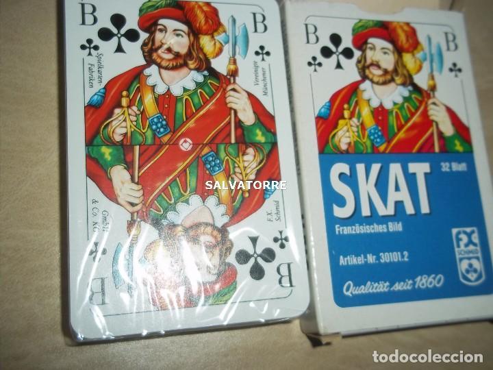 Barajas de cartas: CARTAS,NAIPES.SKAT.32 CARTAS. PLASTIFICADOS. - Foto 3 - 153998602