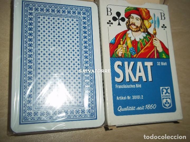 Barajas de cartas: CARTAS,NAIPES.SKAT.32 CARTAS. PLASTIFICADOS. - Foto 4 - 153998602