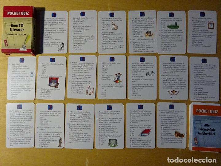 BARAJA DE CARTAS. JUEGO DE PREGUNTAS Y RESPUESTAS. ARTE Y LITERATURA. EN ALEMÁN, 80 GR (Juguetes y Juegos - Cartas y Naipes - Otras Barajas)