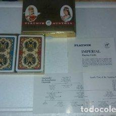 Barajas de cartas: BARAJA DOBLE MAZO DE CARTAS IMPERIAL KAISER PIATNIK AUSTRIA. Lote 155008110