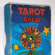 Barajas de cartas: BARAJA DE CARTAS TAROT BILINGÜE POR DOMENICO BALBI DE IMPRENTA HERACLIO FOURNIER / VITORIA. Lote 155027462