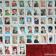 Barajas de cartas: BARAJA DE 49 CARTAS. TELE BANCO CANCIÓN. FONDO ROSA. CIRCA 1970. . Lote 155079954