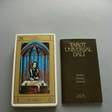 Barajas de cartas: TAROT UNIVERSAL SALVADOR DALI EDICION 1984 DISTRIBUCIONS D'ART SURREALISTA BARAJA 1ª EDICION NUEVA. Lote 127342071