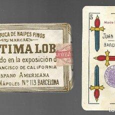 Barajas de cartas: BARAJA LEGITIMA LOBA, JUAN ROURA, MADE IN SPAIN. TIMBRE EXPORTACION. PRECINTADA PERFECTA.. Lote 155217138