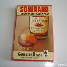 Barajas de cartas: BARAJA CARTAS, HERACLIO FOURNIER - BRANDY SOBERANO. GONZALEZ BYASS (JEREZ). 40 NAIPES.. Lote 155364826