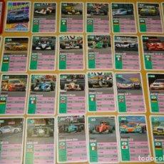 Jeux de cartes: BARAJA DE CARTAS INFANTIL. CUARTETOS. COCHES DE CARRERAS AÑO 1995. FÓRMULA 1, GT, RALLYE. 70 GR. Lote 161304236