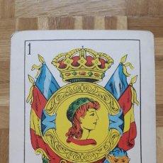 Barajas de cartas: PUBLICIDAD FARMACEÚTICA - HOSBON SA - COLECCIONES TRIUNFOS - NAIPE GIGANTE - 1965 - AS OROS LEÓN. Lote 155460626