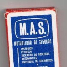 Barajas de cartas: BARAJA FOURNIER. SEGUROS M.A.S. SALAMANCA. Lote 155554140