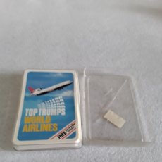 Barajas de cartas: BARAJA DE CARTAS TOP TRUMPS WORLD AIRLINES. Lote 155793949