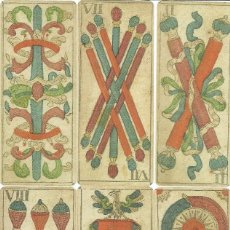 Barajas de cartas: ANTIGUA BARAJA PARA TRAPPOLA - AUSTRIA SIGLO XVIII (1782) - CERTIFICADO COLECCION FOURNIER. Lote 155927482