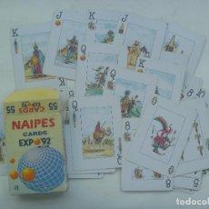 Barajas de cartas: COLECCIONISMO EXPO´92 DE SEVILLA : BARAJA DE CARTAS ESPAÑOLA. Lote 155967518