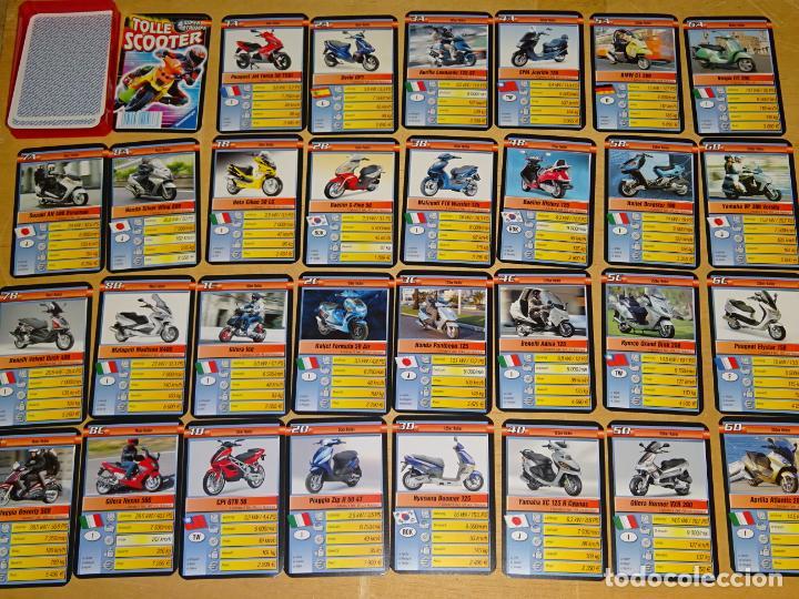 BARAJA DE CARTAS INFANTIL. CUARTETOS. SUPER MOTOS SCOOTER, YAMAHA GILERA KYMCO VESPA DERBI 70 GR (Juguetes y Juegos - Cartas y Naipes - Barajas Infantiles)