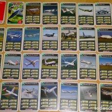 Barajas de cartas: BARAJA DE CARTAS INFANTIL. CUARTETOS. JETS AVIONES A REACCIÓN. BOEING AIRBUS AVRO CANADAIR 70 GR. Lote 156001158
