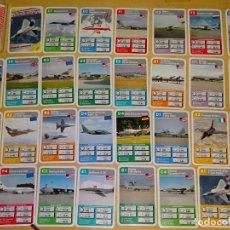 Barajas de cartas: BARAJA DE CARTAS INFANTIL. CUARTETOS. AVIONES MILITARES AÑO 1999. RUSIA, UK, USA, ALEMANIA. 70GR. Lote 156001590