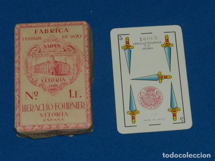 (M) BARAJA HERACLIO FOURNIER VITORIA ESPAÑA Nº1E PRECINTADA ORIGINAL, PEQUEÑAS ROTURITAS EN EL SOBRE (Juguetes y Juegos - Cartas y Naipes - Baraja Española)