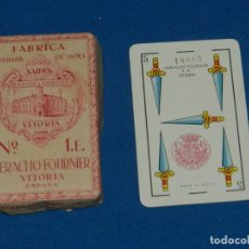 Barajas de cartas: (M) BARAJA HERACLIO FOURNIER VITORIA ESPAÑA Nº1E PRECINTADA ORIGINAL, PEQUEÑAS ROTURITAS EN EL SOBRE. Lote 156047918