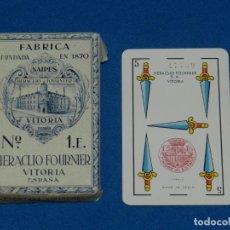 Barajas de cartas: (M) BARAJA HERACLIO FOURNIER VITORIA ESPAÑA Nº1E PRECINTADA ORIGINAL, PEQUEÑAS ROTURITAS EN EL SOBRE. Lote 156047954