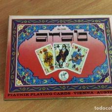 Jeux de cartes: ARAB CAJA 2 BARAJAS POKER . AUSTRIA VIENA. PRECINTADAS (COIB112). Lote 156721126