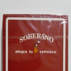 Barajas de cartas: NAIPES, FOURNIER, PUBLICIDAD - SOBERANO. Lote 156772454