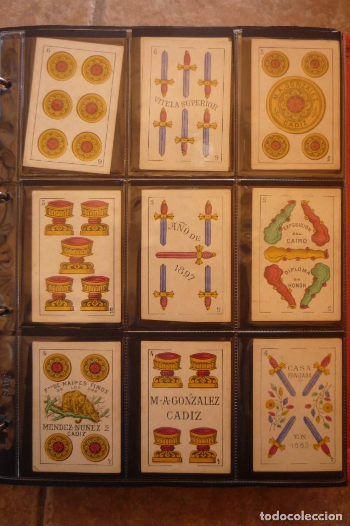 Barajas de cartas: BARAJA DE CARTAS AÑO 1897. M. A. GONZÁLEZ-CÁDIZ. FÁBRICA DE LOS DOS TIGRES. COMPLETA 40 CARTAS NUEVA - Foto 3 - 160270425