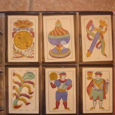 Barajas de cartas: BARAJA SIGLO XIX. CARTAS SIN NUMERAR. FÁBRICA DE 'OLEA' CÁDIZ. COMPLETA 48 CARTAS. NUEVA . Lote 156816122